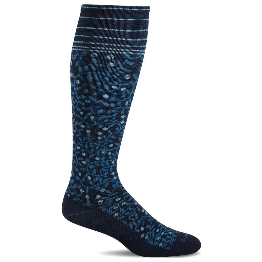 SOCKWELL Women's New Leaf Graduated Compression Socks - NAVY 600