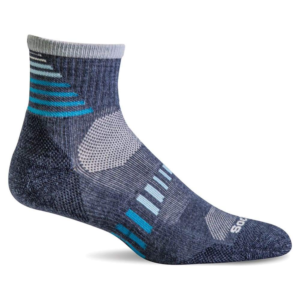 SOCKWELL Women's Ascend II Moderate Compression Quarter Socks - DENIM 650