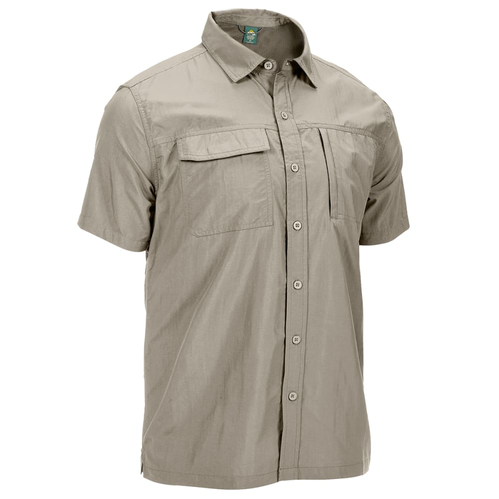 EMS Men's Trailhead Short-Sleeve Shirt - VINTAGE KHAKI