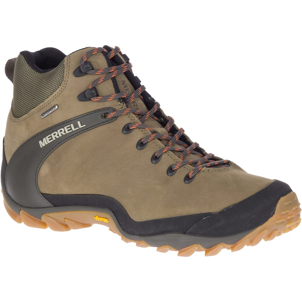 MERRELL Men's Chameleon 8 Leather Mid Waterproof Hiking Shoes 9