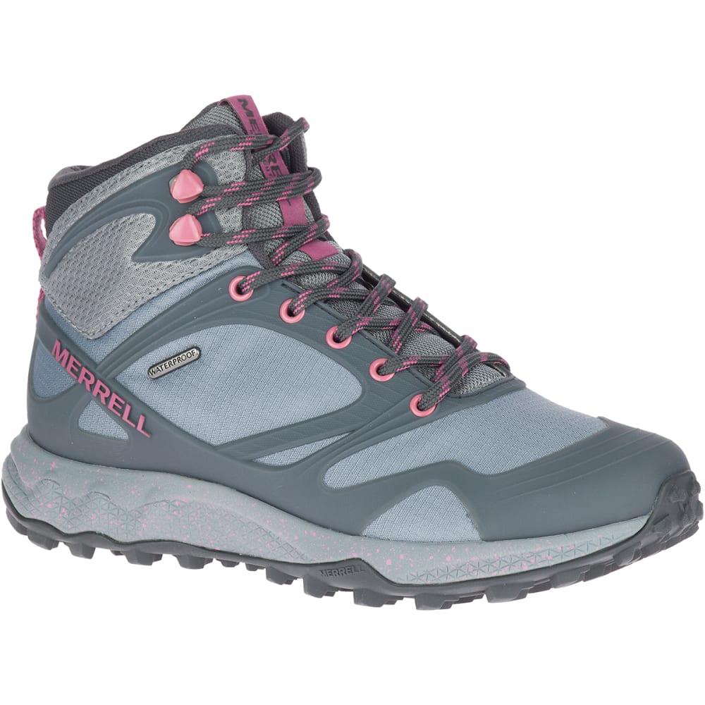 MERRELL Women's Altalight Mid Waterproof Hiking Boots - MONUMENT/ERICA