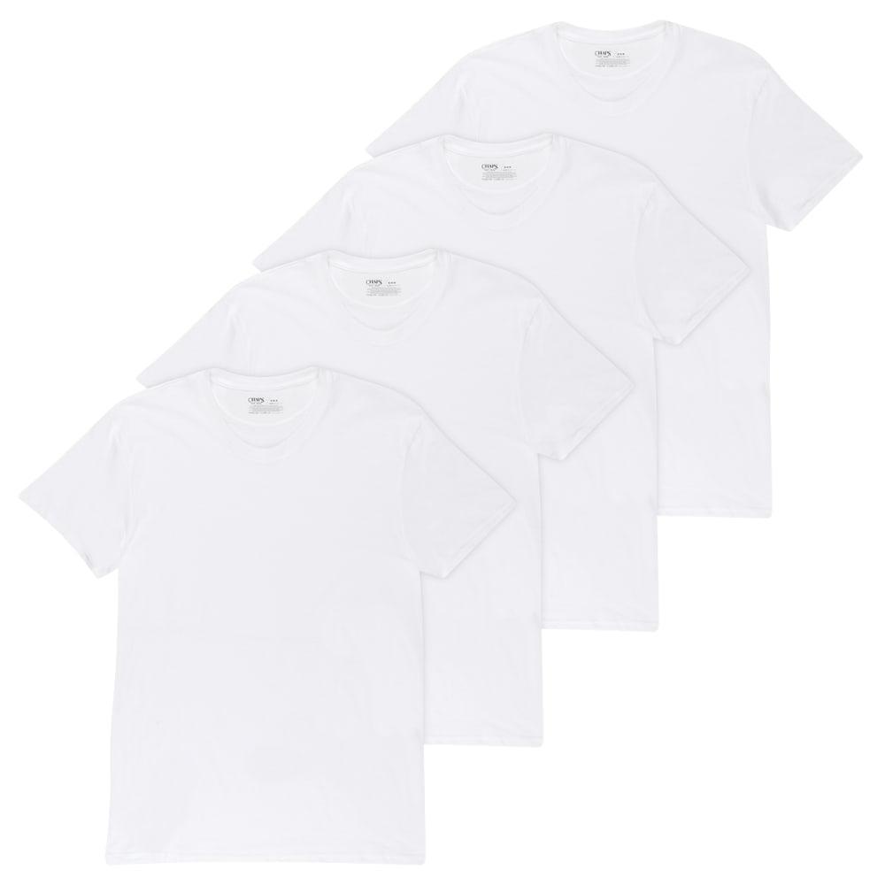 CHAPS Men's Essential Crew Neck Short-Sleeve Tees, 4 Pack M