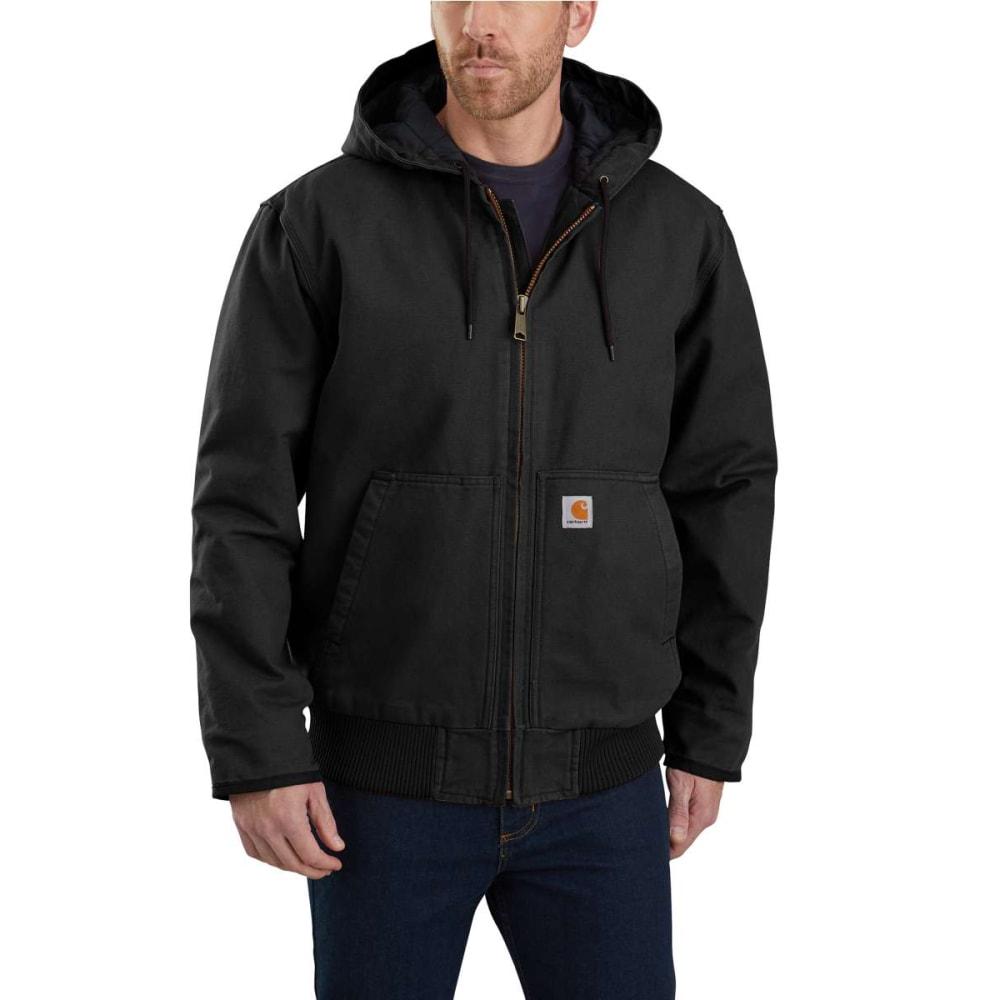 CARHARTT Men's Duck Quilt-Lined Jacket - BLACK BLK