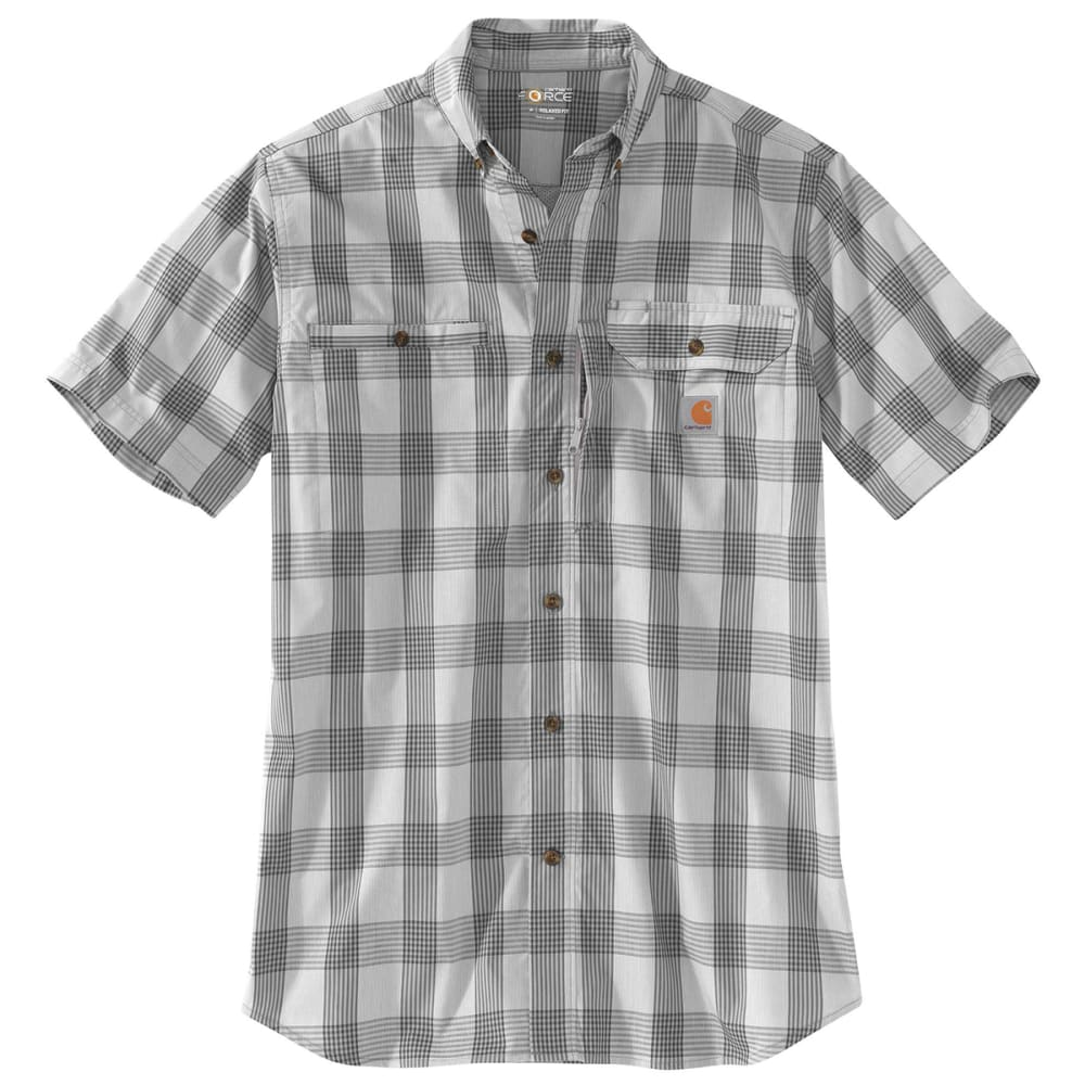 CARHARTT Men's Force Ridgefield Plaid Short-Sleeve Shirt S