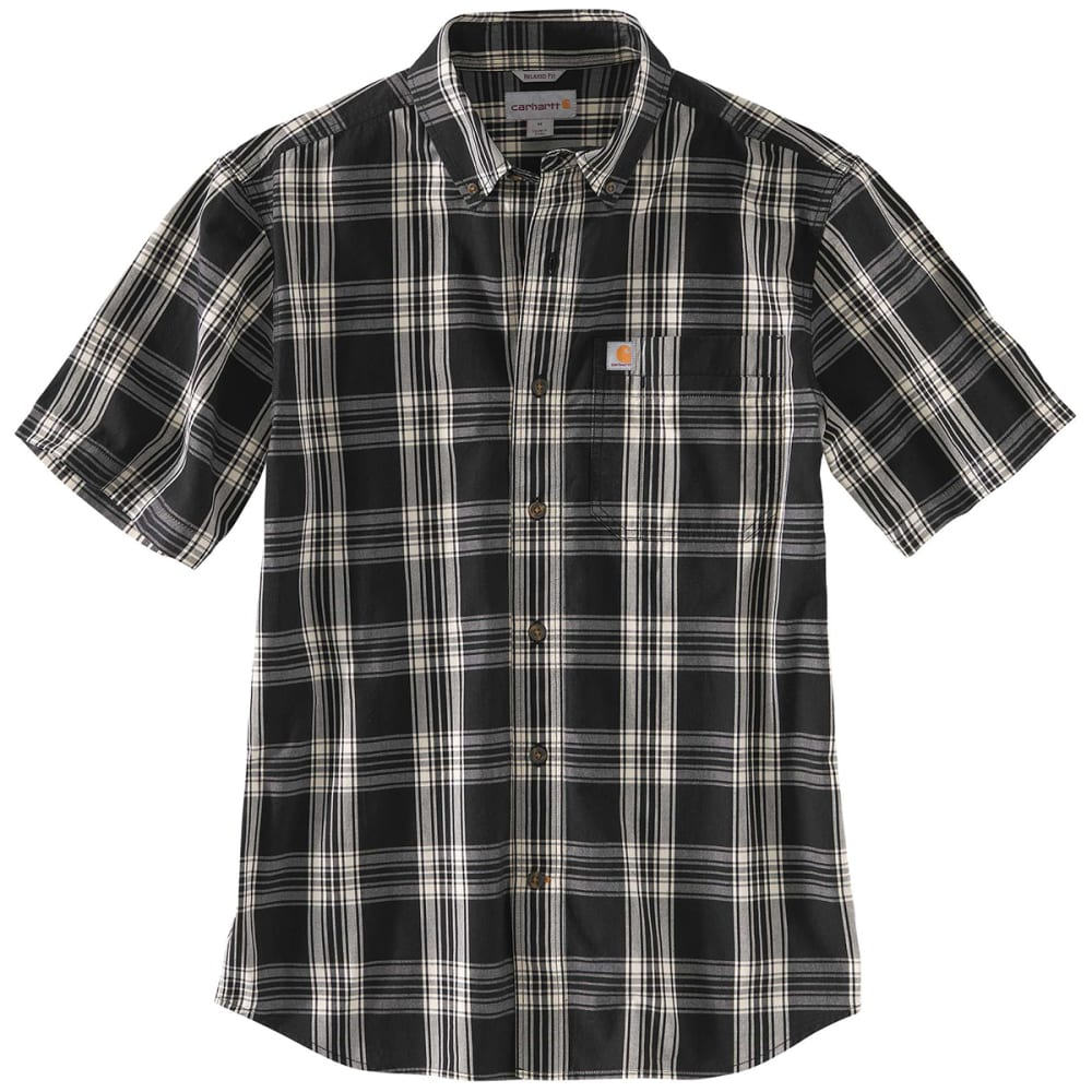 CARHARTT Men's Essential Plaid Button-Down Short-Sleeve Shirt S