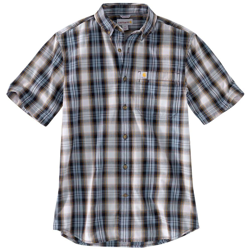 CARHARTT Men's Essential Plaid Button-Down Short-Sleeve Shirt M