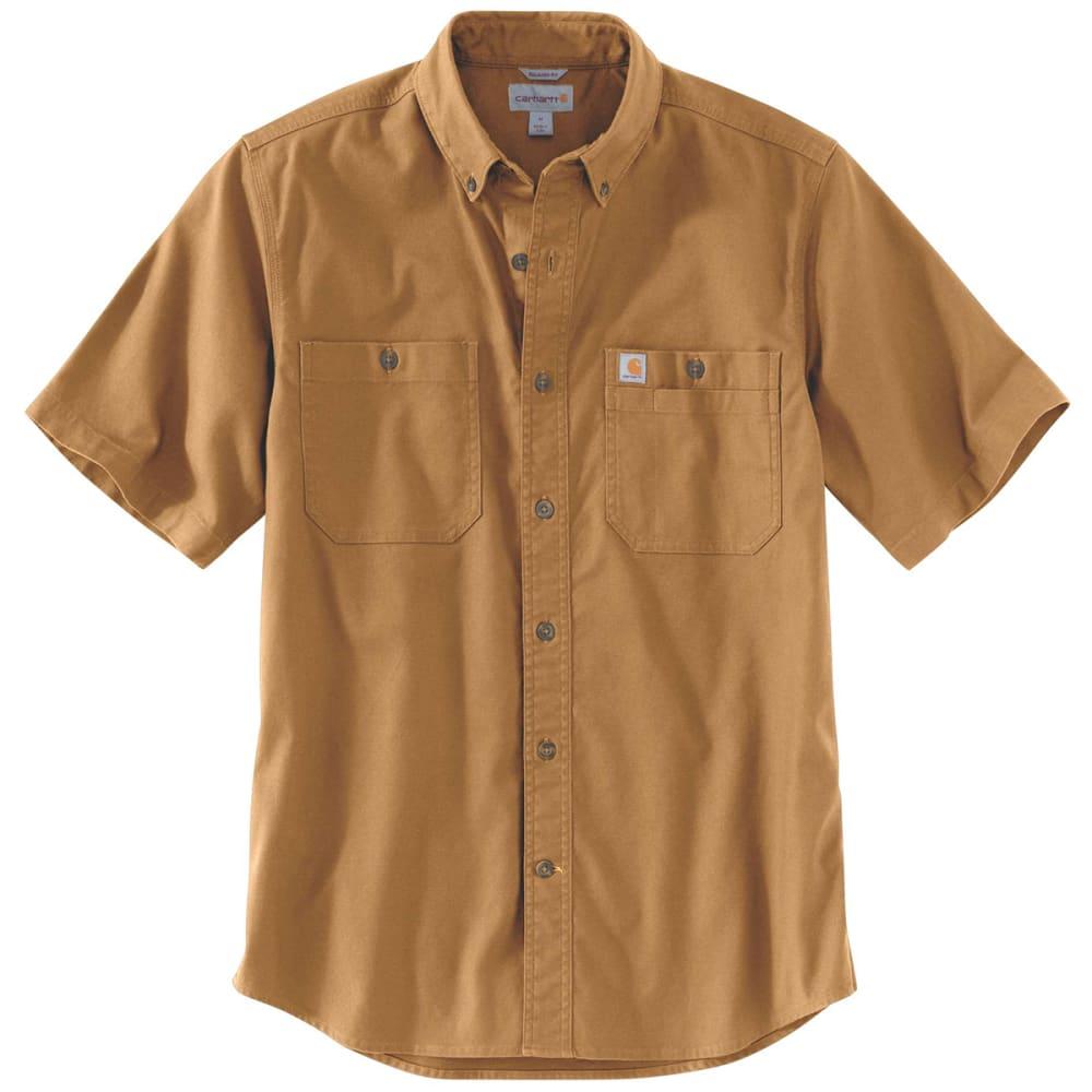 CARHARTT Men's Flex Rigby Short-Sleeve Work Shirt - CARHARTT BROWN