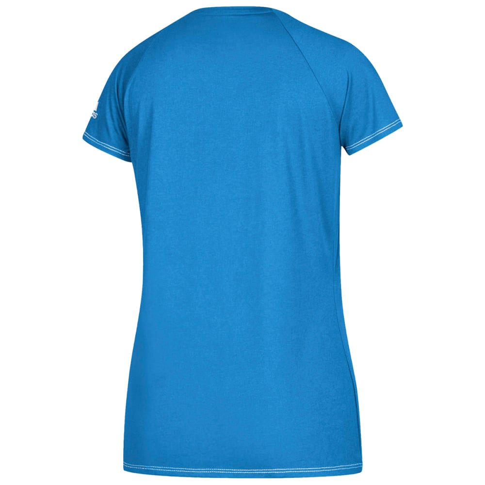 ADIDAS Women's Short-Sleeve Team Climalite Tee - LIGHT BLUE-AR4816