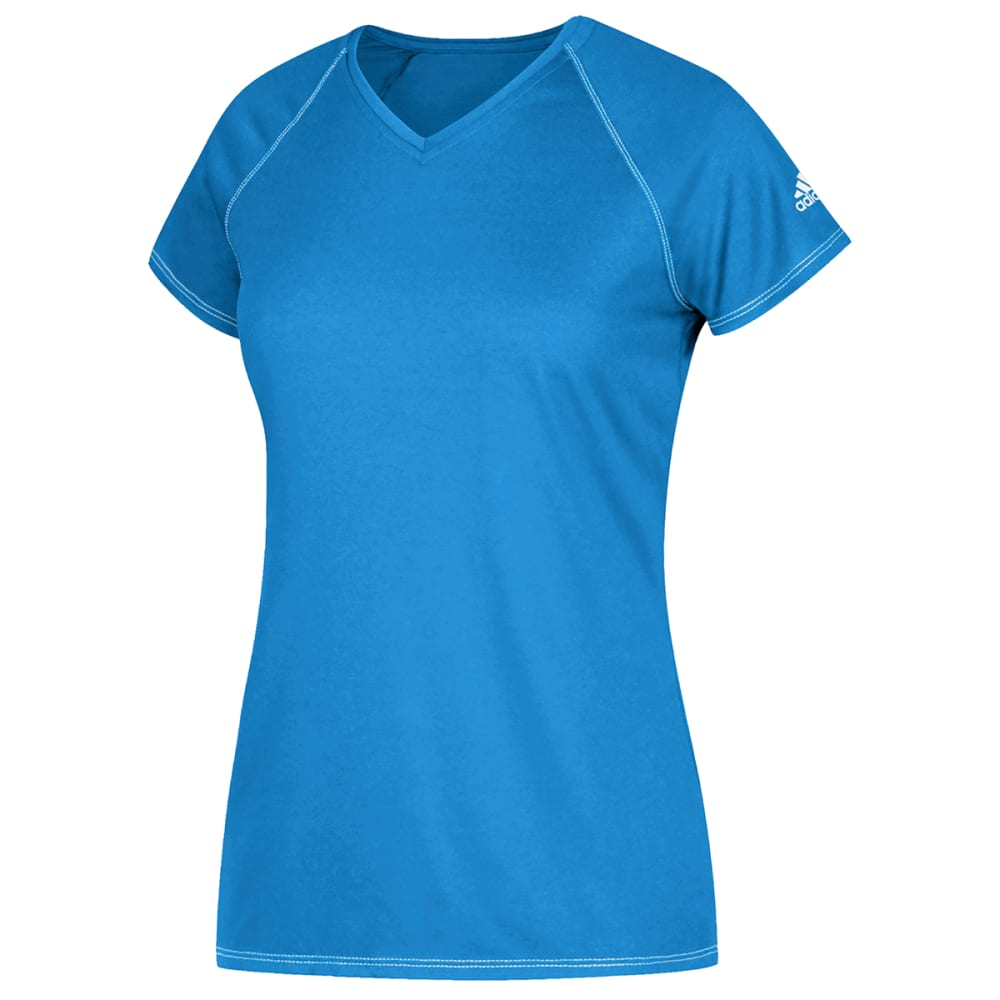 ADIDAS Women's Short-Sleeve Team Climalite Tee - LIGHT BLUE-AR4816