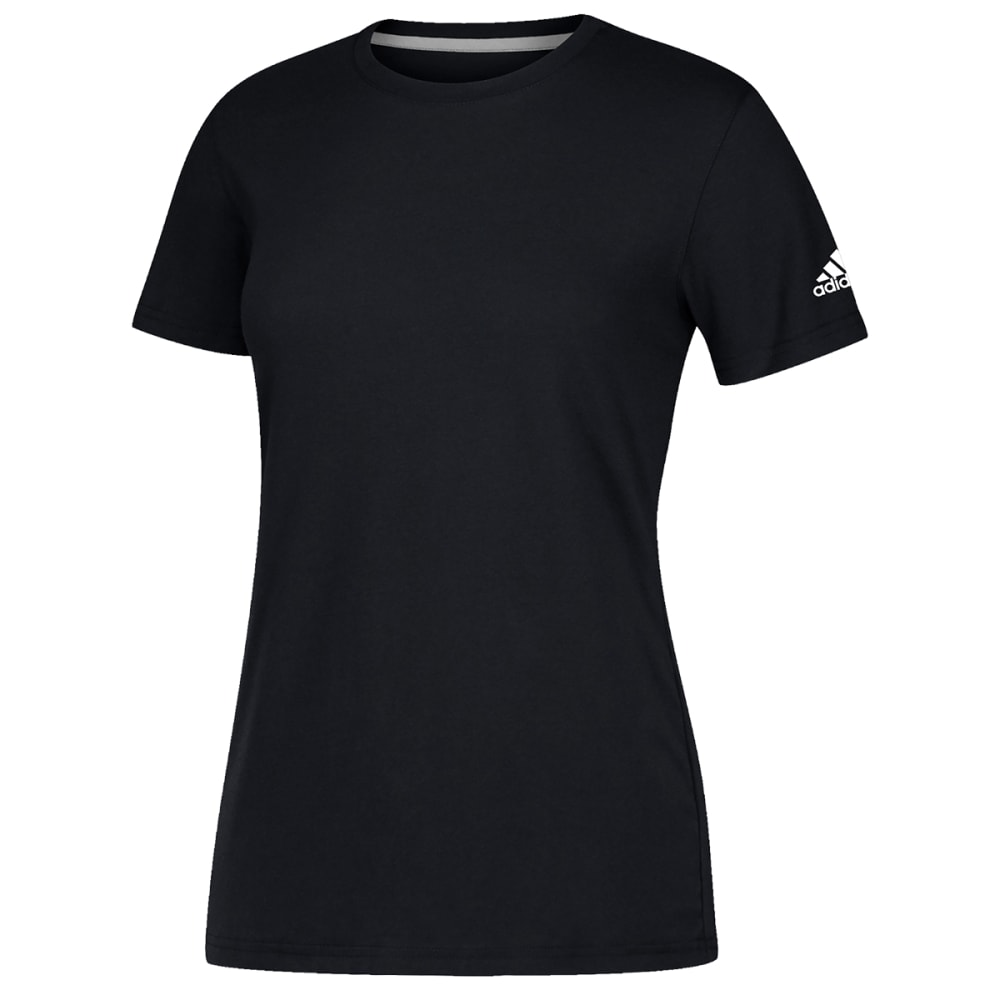 ADIDAS Women's Short-Sleeve Performance Crew Neck Tee - BLACK-CB0357