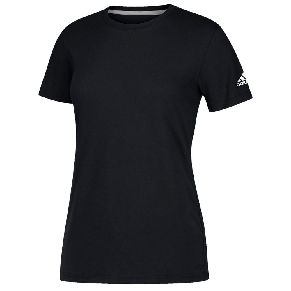 ADIDAS Women's Short-Sleeve Performance Crew Neck Tee - BLACK-CB0357