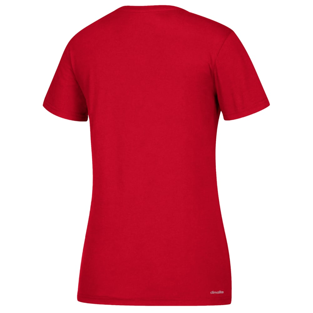 ADIDAS Women's Short-Sleeve Performance Crew Neck Tee - RED-CB0364