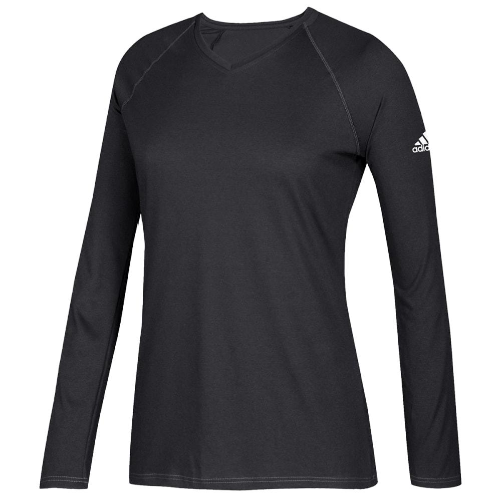 ADIDAS Women's Long-Sleeve Climate Tee - BLACK-D21212