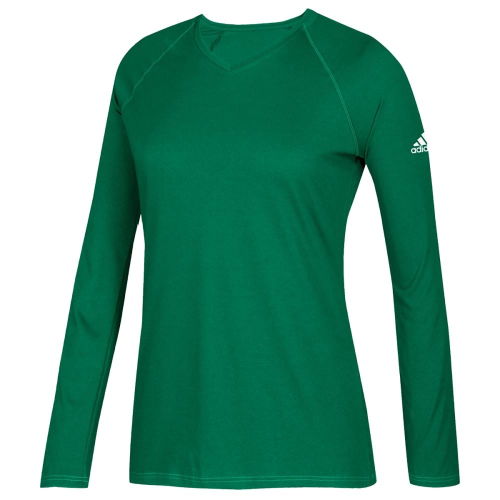 ADIDAS Women's Long-Sleeve Climate Tee - KELLY-H83601