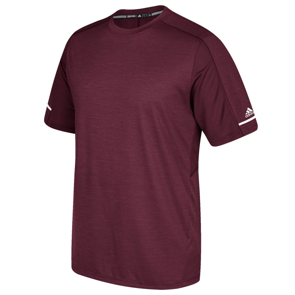ADIDAS Men's Short-Sleeve Training Performance Tee - MAROON-BV3829