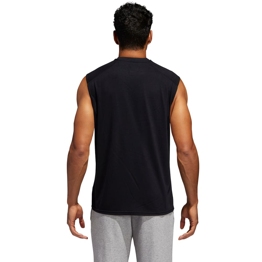 ADIDAS Men's Climalite Sleeveless Tee - BLACK-C69734
