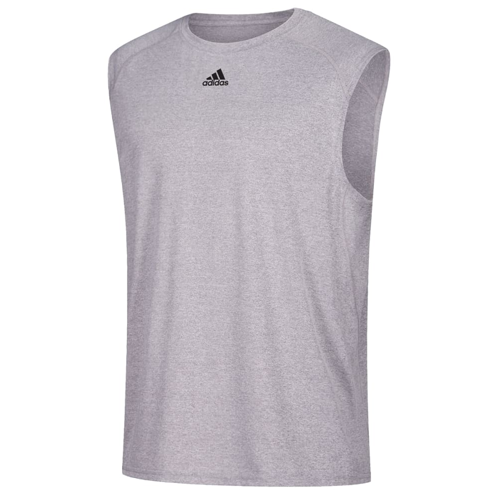 ADIDAS Men's Climalite Sleeveless Tee - GREY-C69733
