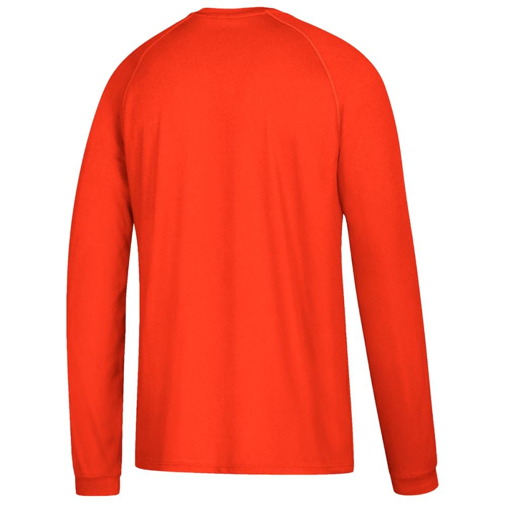 ADIDAS Men's Climalite Long-Sleeve Tee - ORANGE-BF9458