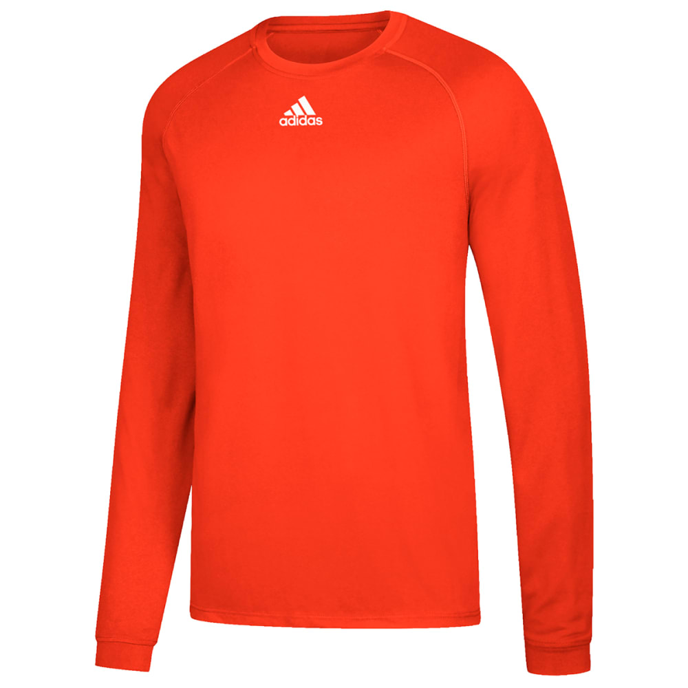 ADIDAS Men's Climalite Long-Sleeve Tee - ORANGE-BF9458