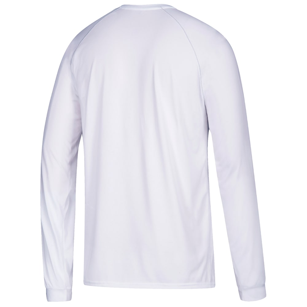 ADIDAS Men's Climalite Long-Sleeve Tee - WHITE-C61901