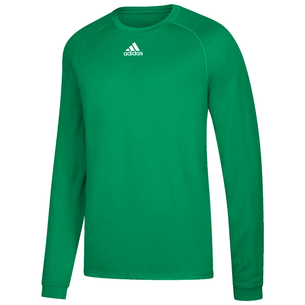 ADIDAS Men's Climalite Long-Sleeve Tee - GREEN-CA8661