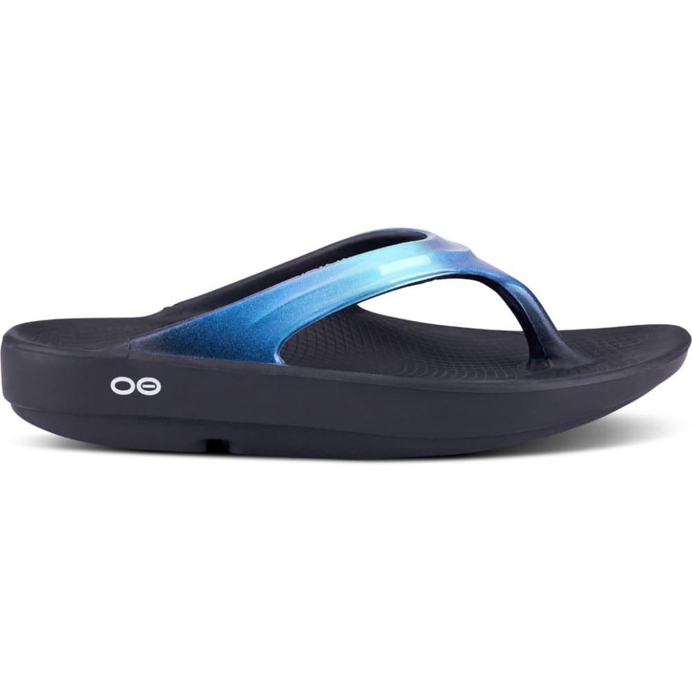 OOFOS Women's Oolala Thong Sandals - BLK/ATLANTIS