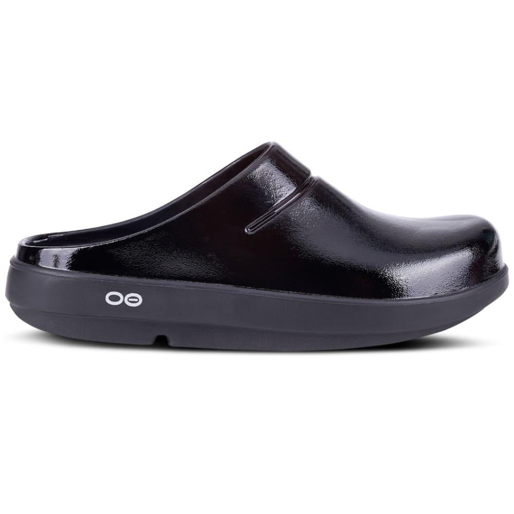 OOFOS Women's OOcloog Luxe Clogs - LUXE BLACK