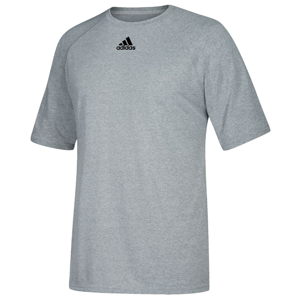 ADIDAS Men's Climalite Short-Sleeve Tee - GREY-C61864