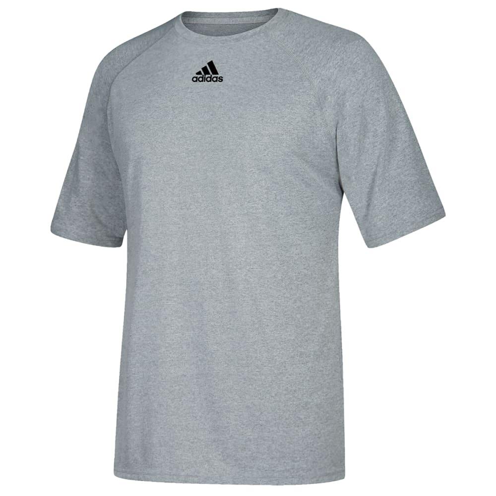 ADIDAS Men's Climalite Short-Sleeve Tee - GREY-C61864