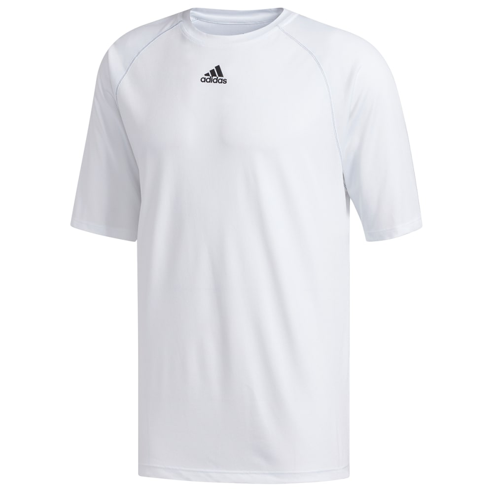 ADIDAS Men's Climalite Short-Sleeve Tee - WHITE-C61882