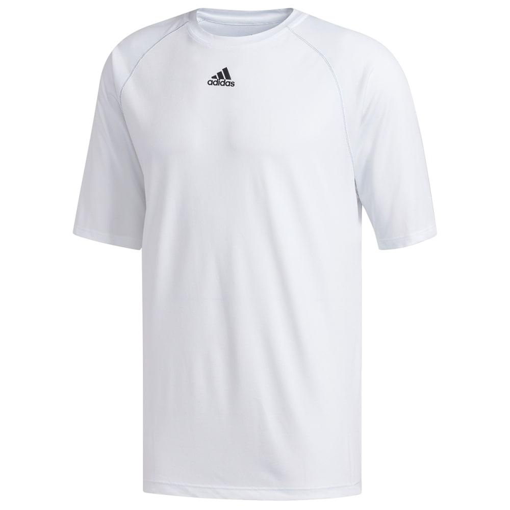 ADIDAS Men's Climalite Short-Sleeve Tee - WHITE-C61882