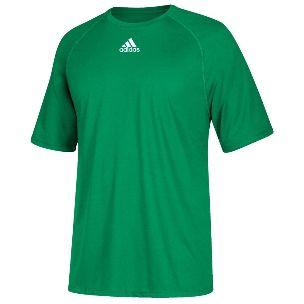 ADIDAS Men's Climalite Short-Sleeve Tee - GREEN-CA8655