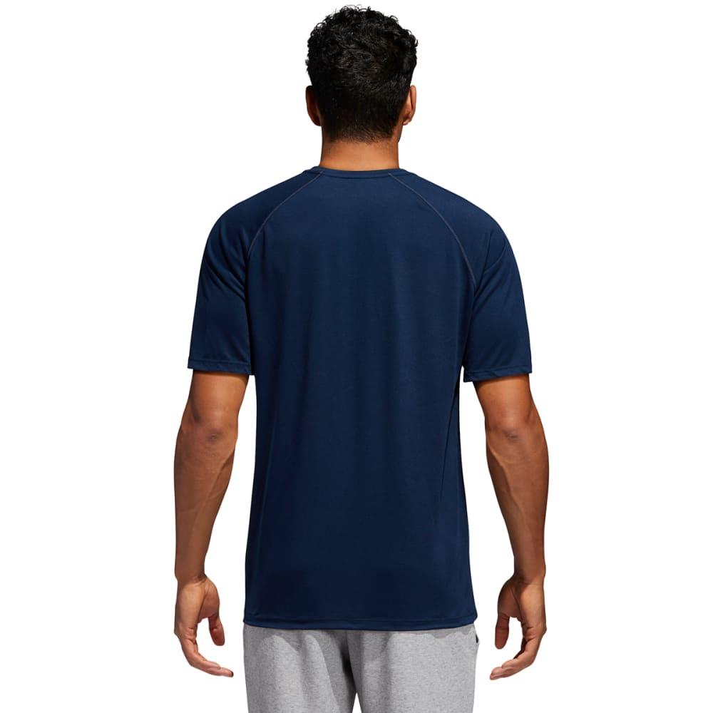 ADIDAS Men's Climalite Short-Sleeve Tee - NAVY-C61870