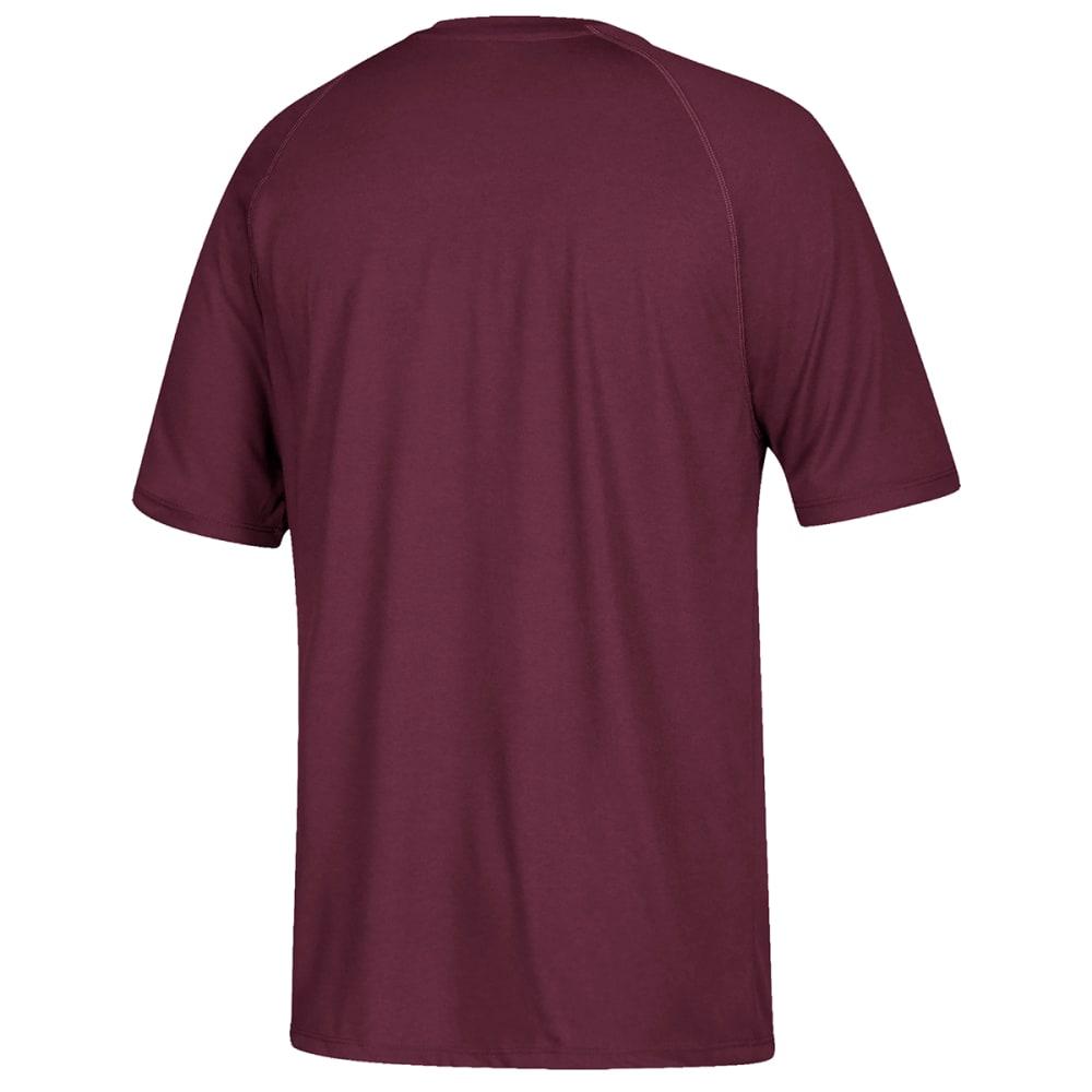 ADIDAS Men's Climalite Short-Sleeve Tee - MAROON-BG3084
