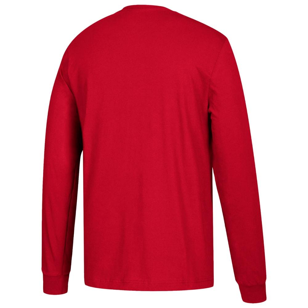 ADIDAS Men's Performance Long-Sleeve Tee - RED-H83710
