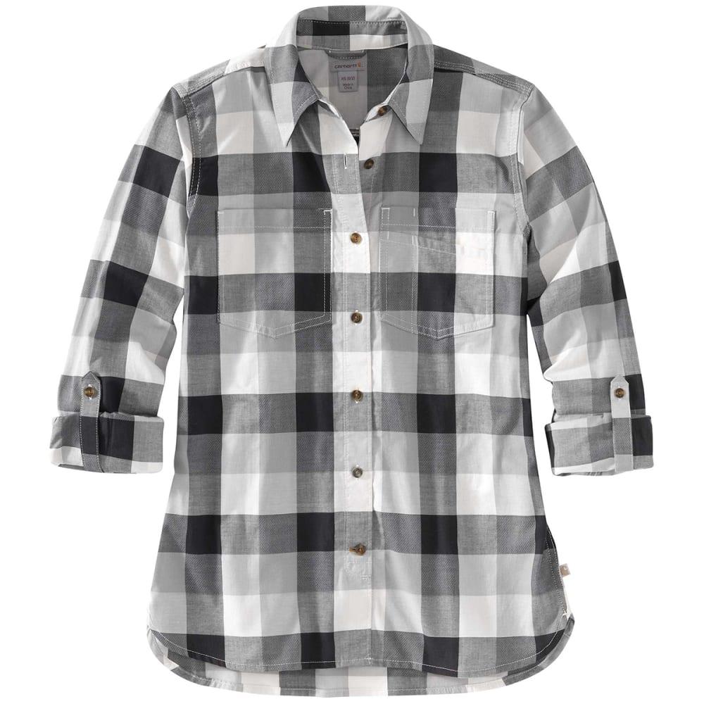 CARHARTT Women's Fairview Plain Long-Sleeve Shirt - 006 ASPHALT