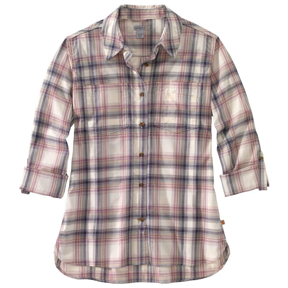 CARHARTT Women's Fairview Plain Long-Sleeve Shirt - 470 BLUESTONE