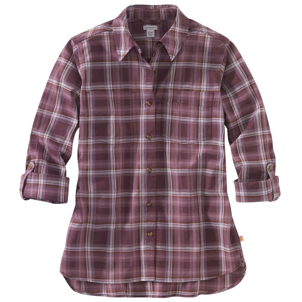 CARHARTT Women's Fairview Plain Long-Sleeve Shirt - 539 LAVENDAR SHADOW