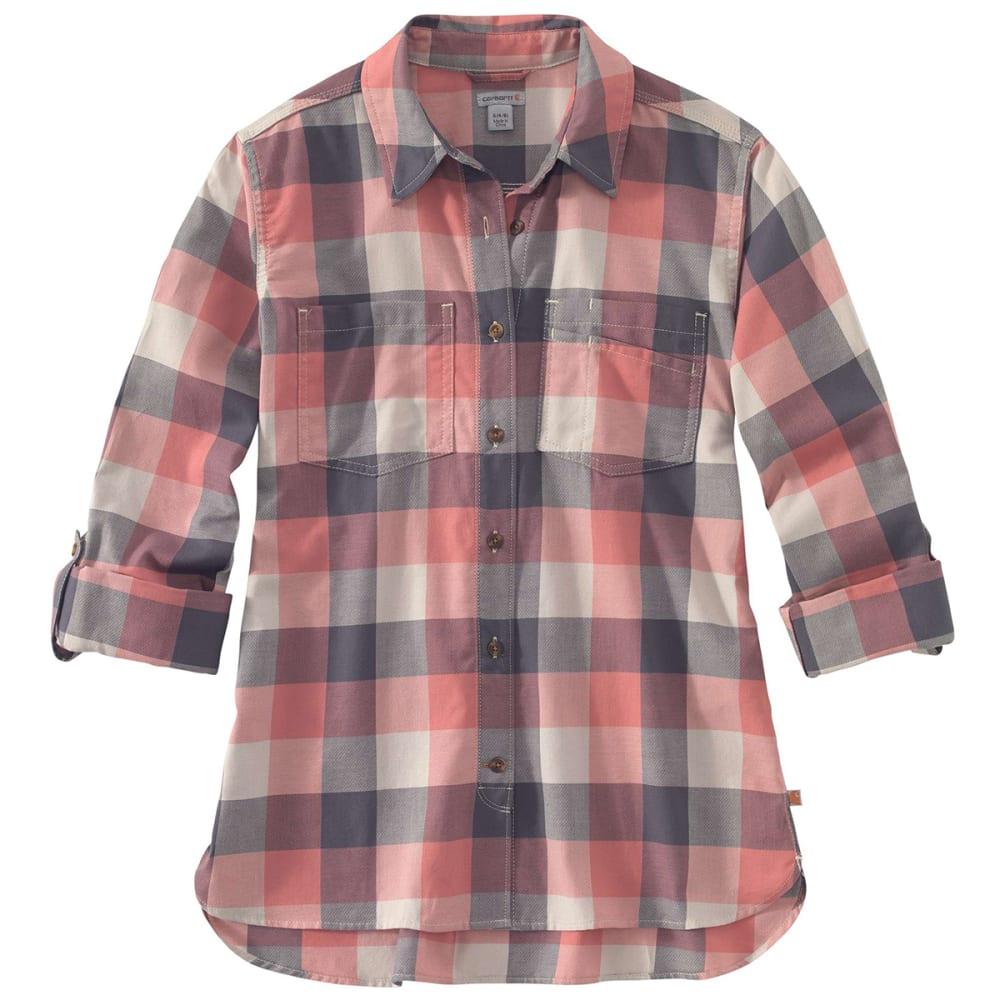 CARHARTT Women's Fairview Plain Long-Sleeve Shirt - 950 BRICK DUST