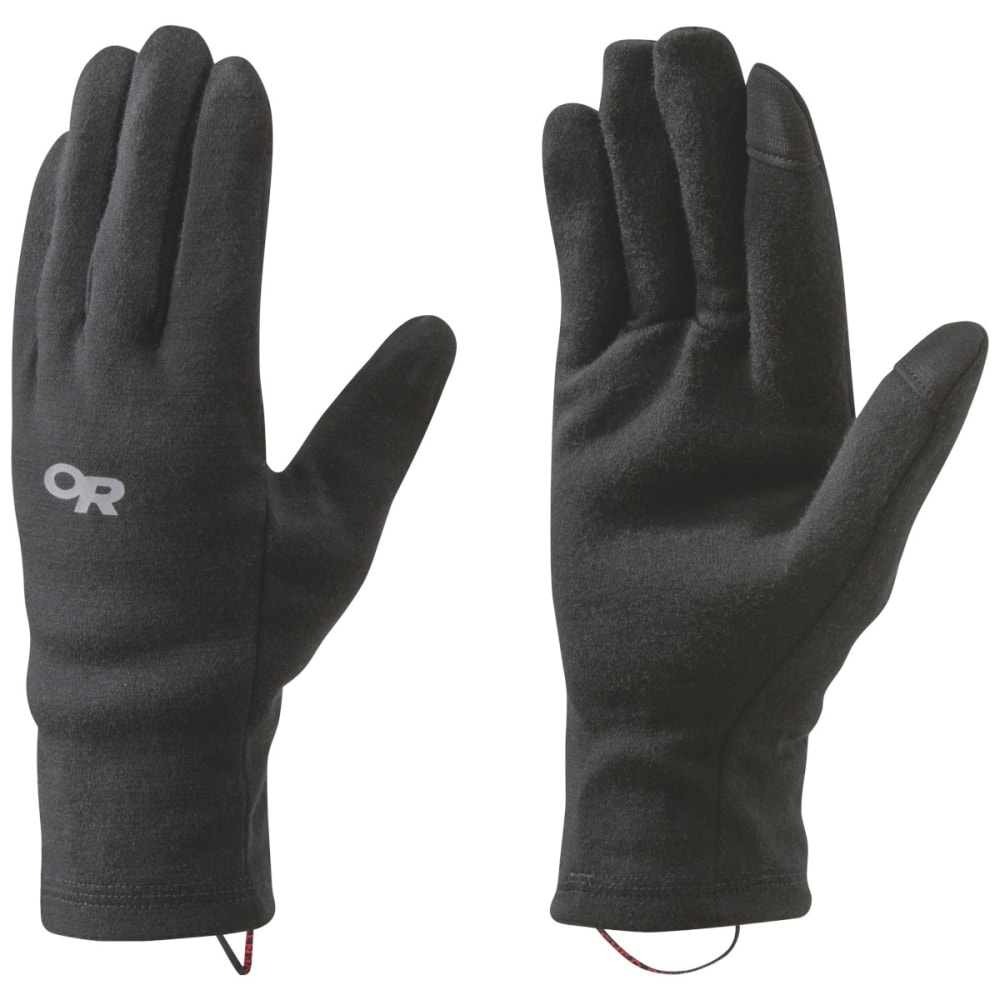 OUTDOOR RESEARCH Men's Woolly Sensor Liners - BLACK - 0001