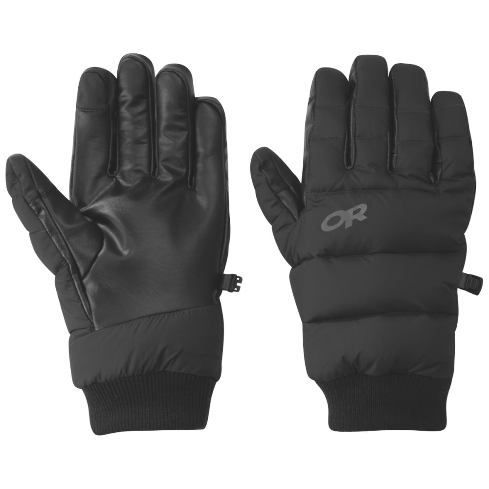 OUTDOOR RESEARCH Men's Transcendent Down Gloves - BLACK - 0001