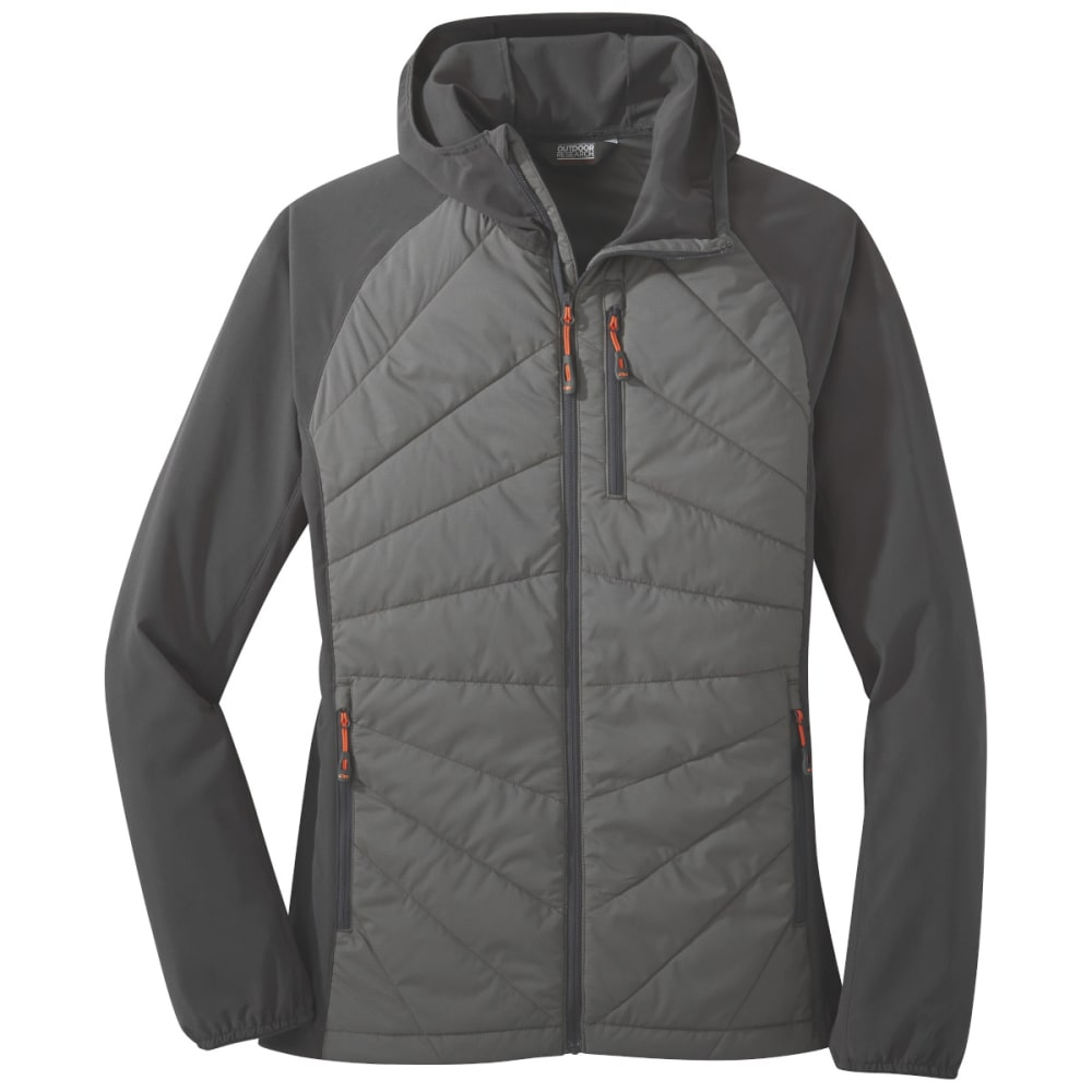 OUTDOOR RESEARCH Women's Refuge Hybrid Hooded Jacket - PEWTER/STORM - 1352
