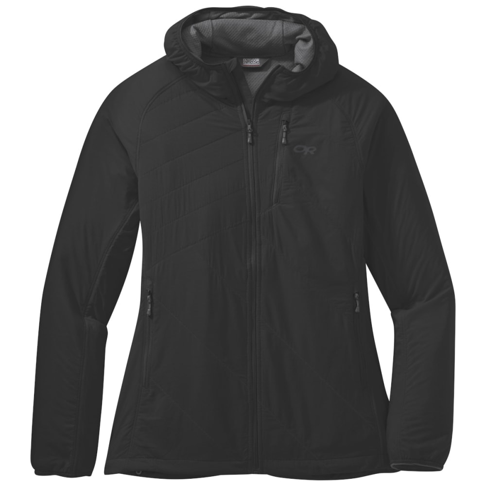 OUTDOOR RESEARCH Women's Refuge Air Hooded Jacket - BLACK - 0001