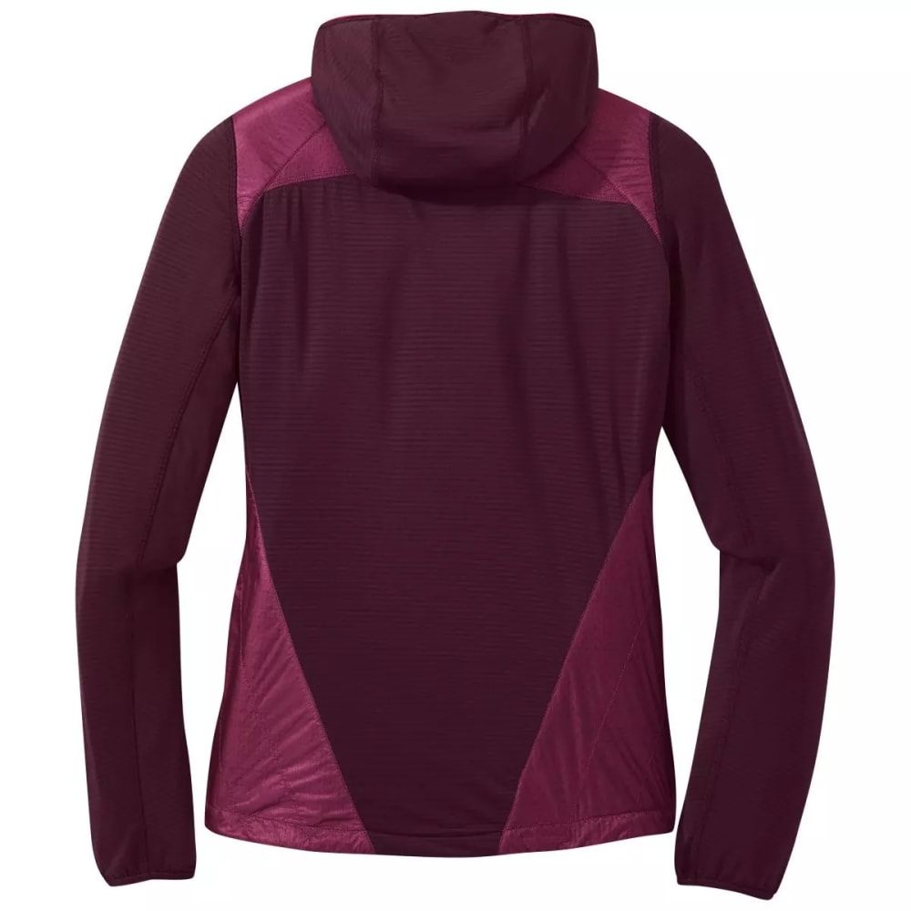 OUTDOOR RESEARCH Women's Vigor Hybrid Hooded Jacket - CACAO/BEET - 1592