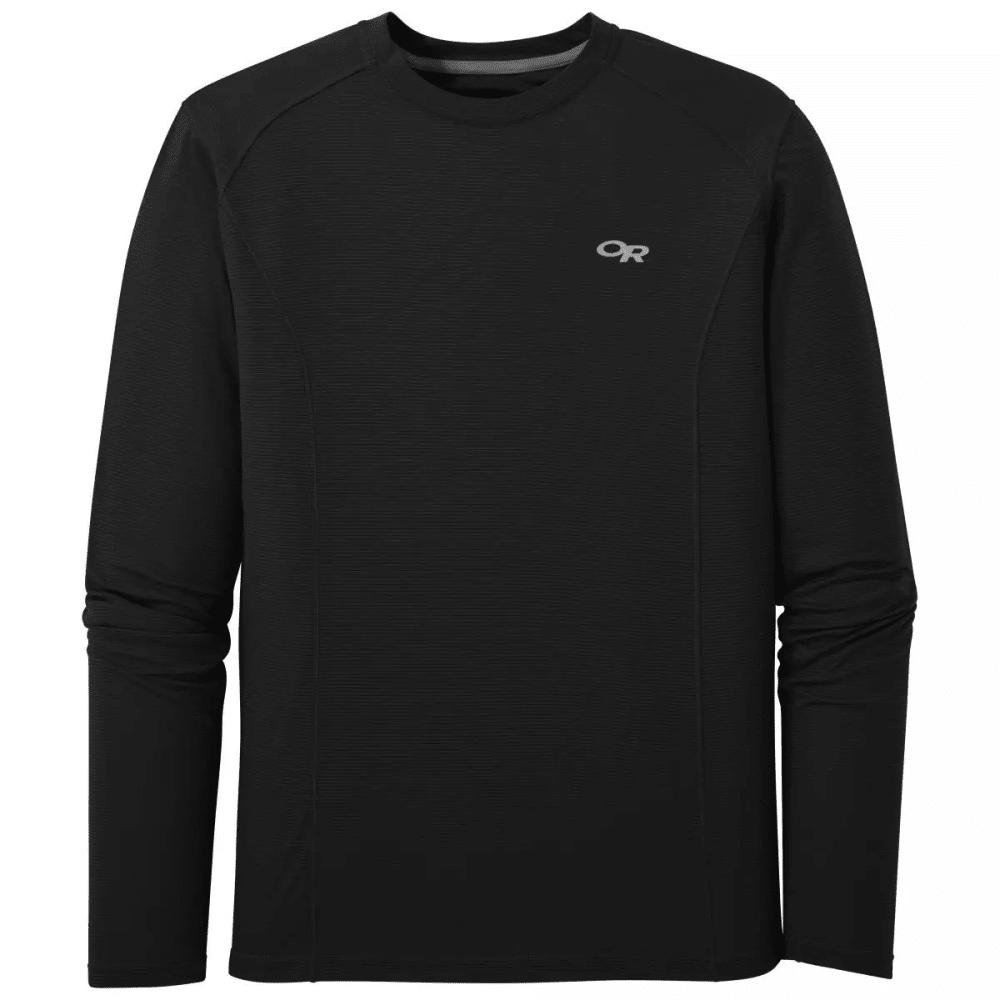 OUTDOOR RESEARCH Men's Echo Long-Sleeve Tee - BLACK - 0001