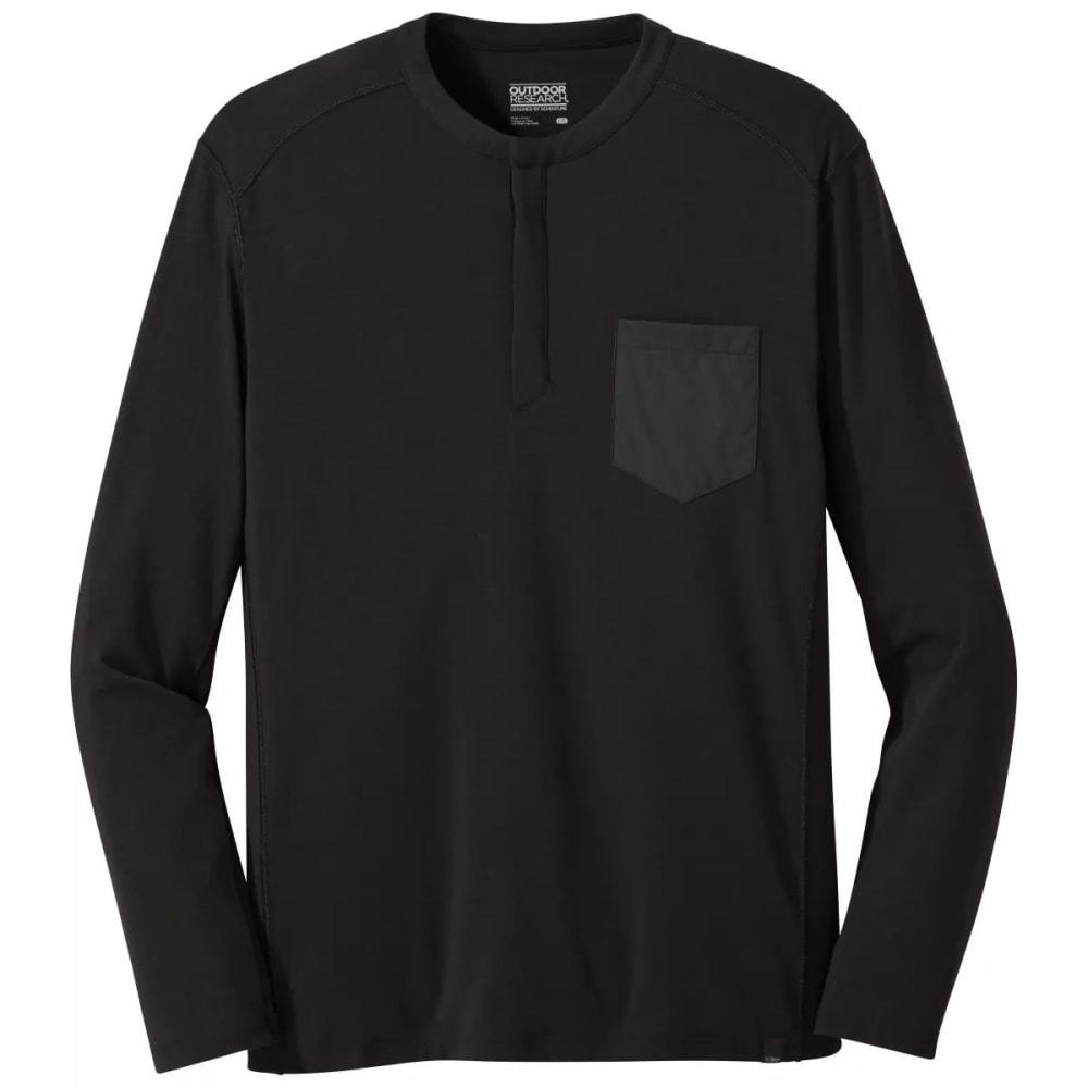 OUTDOOR RESEARCH Men's Westport Henley - BLACK - 0001