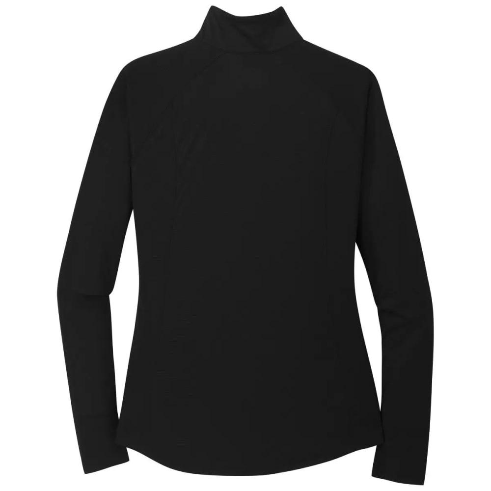 OUTDOOR RESEARCH Women's Echo 1/4-Zip Pullover - BLACK - 0001