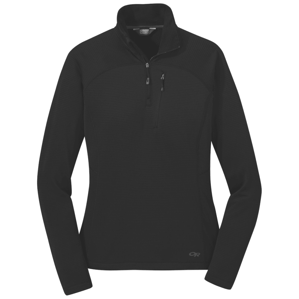 OUTDOOR RESEARCH Women's Vigor 1/4-Zip Pullover - BLACK - 0001