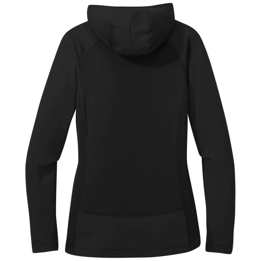 OUTDOOR RESEARCH Women's Vigor Half Zip Hoodie - BLACK - 0001