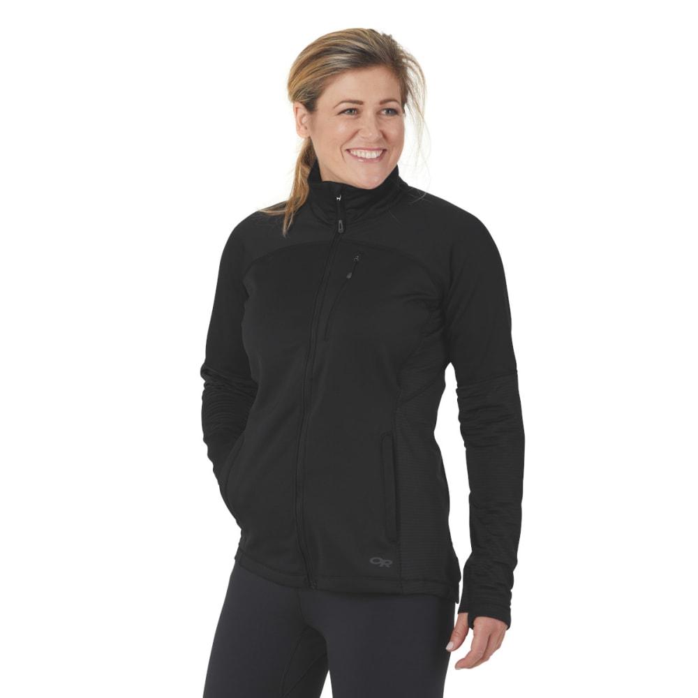 OUTDOOR RESEARCH Women's Vigor Full-Zip Jacket - BLACK - 0001